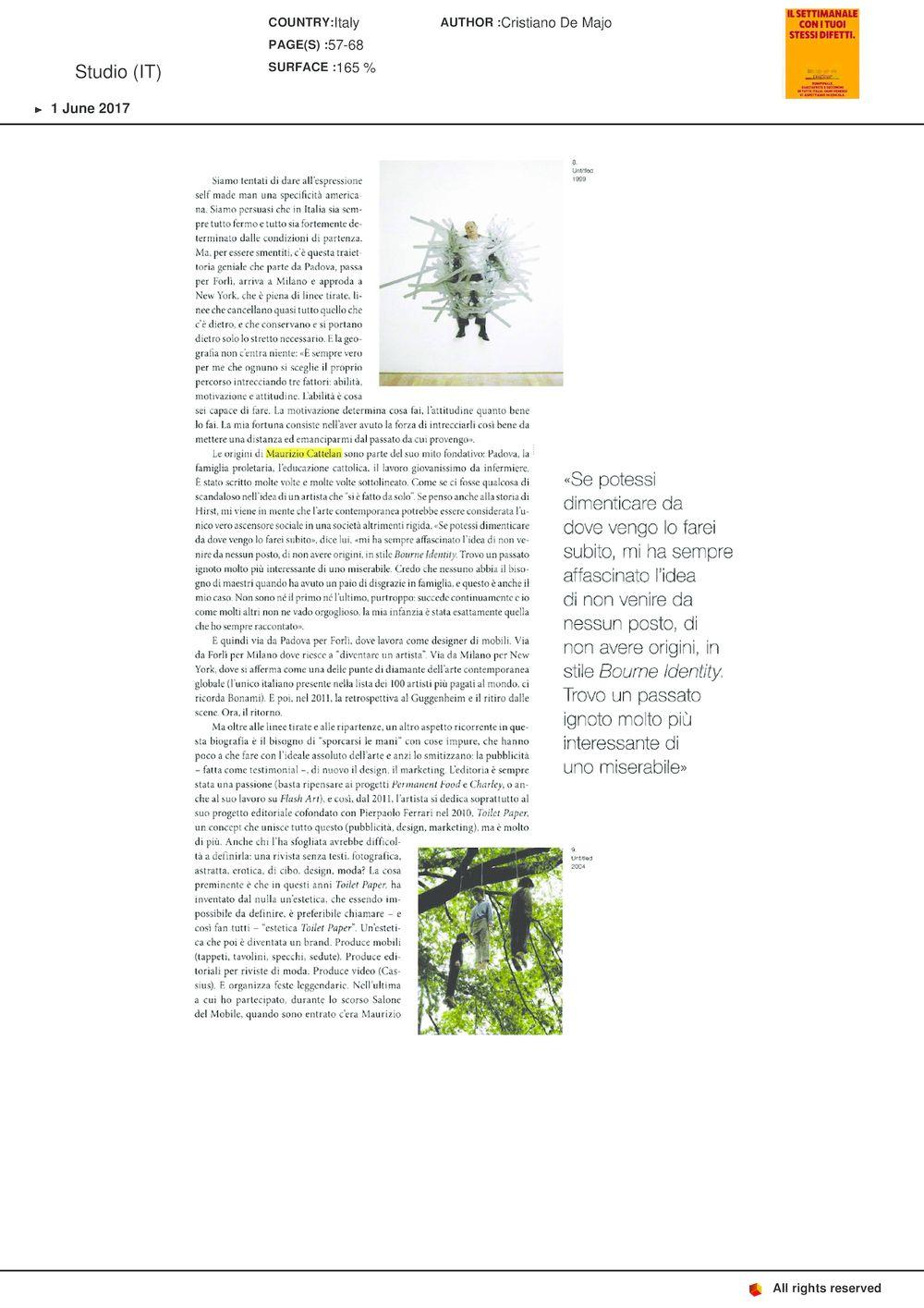 STUDIO | Maurizio CATTELAN