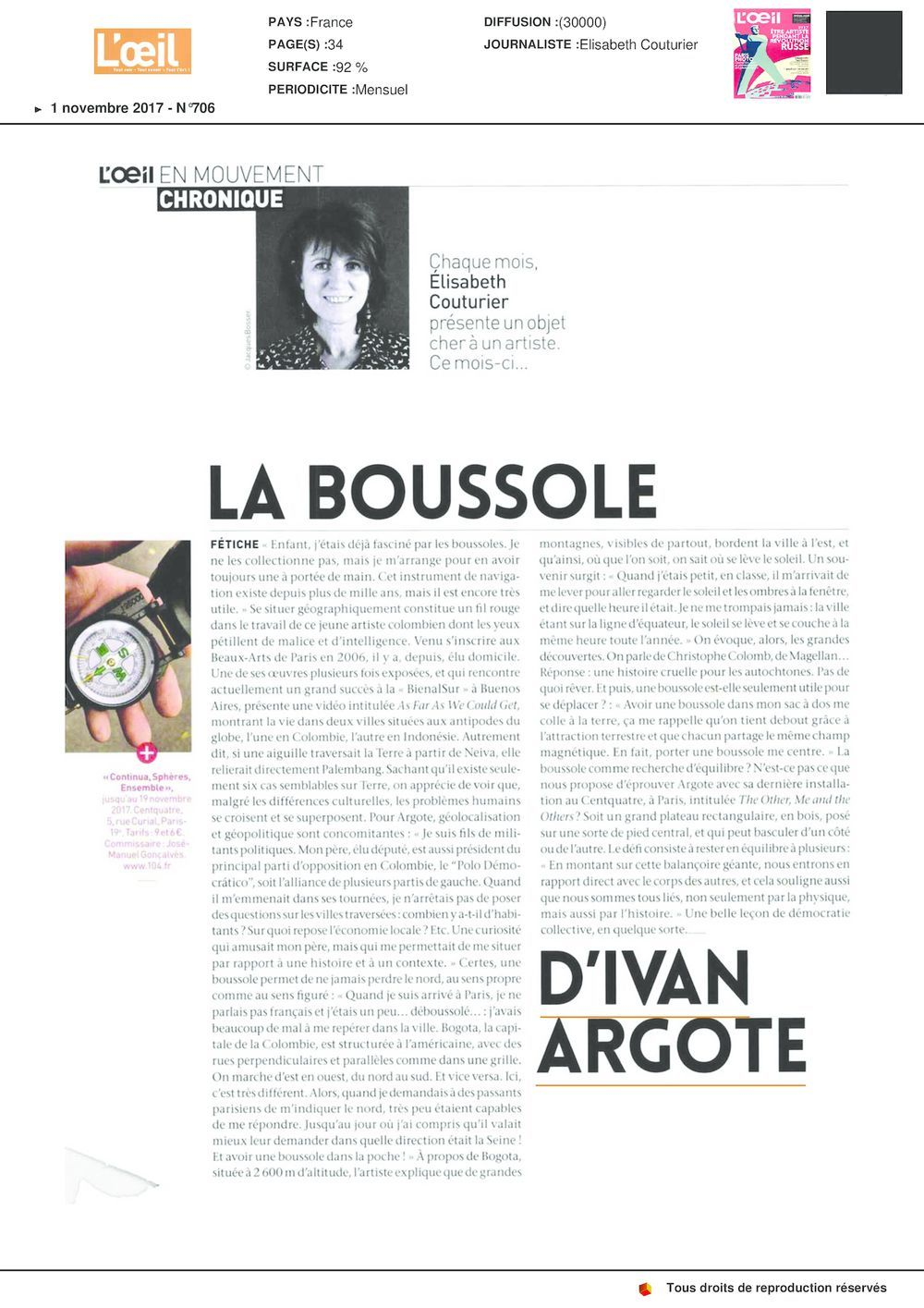 L'Oeil | 伊凡‧亞戈特