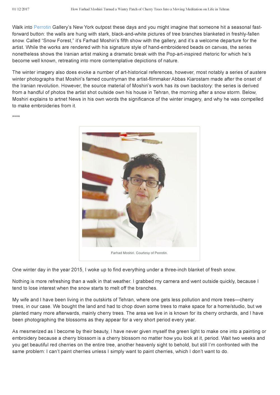 Artnet News | Farhad MOSHIRI