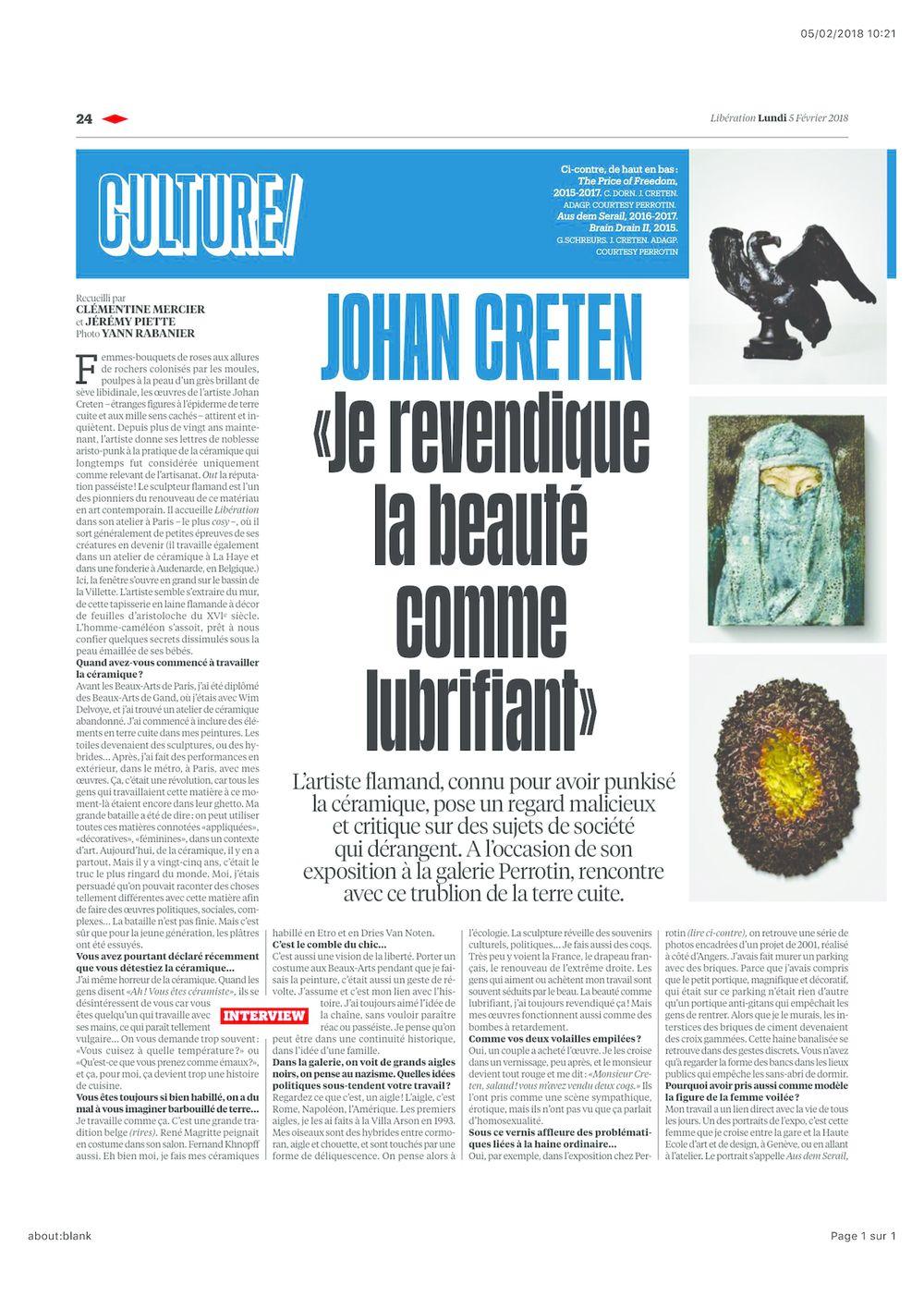 Libération   Johan CRETEN