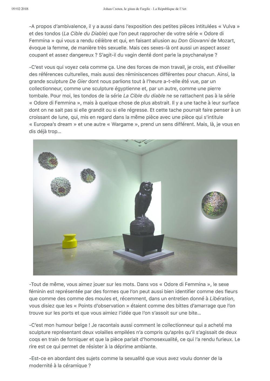 La République de l'art | Johan CRETEN