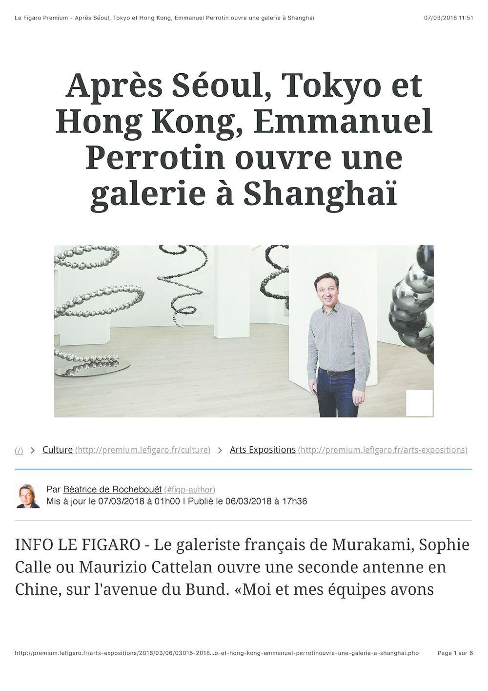 Le Figaro | Emmanuel Perrotin
