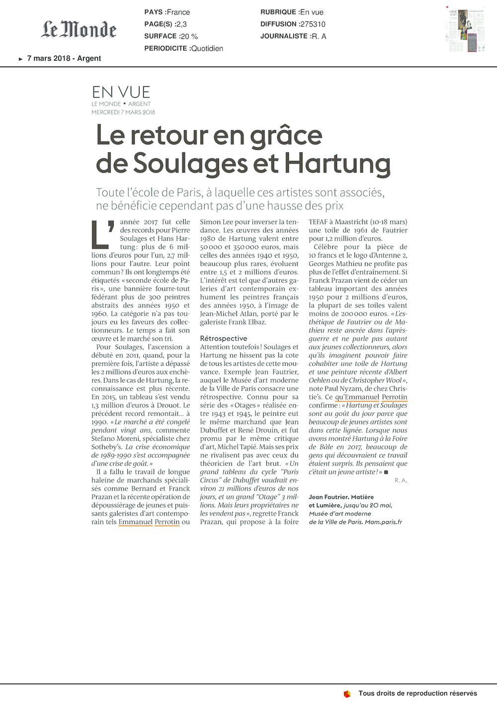 Le Monde | Pierre SOULAGES