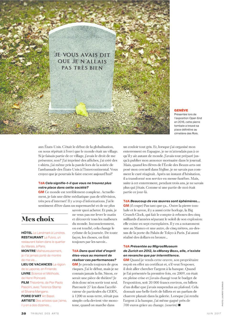 La Tribune des arts | Gianni MOTTI