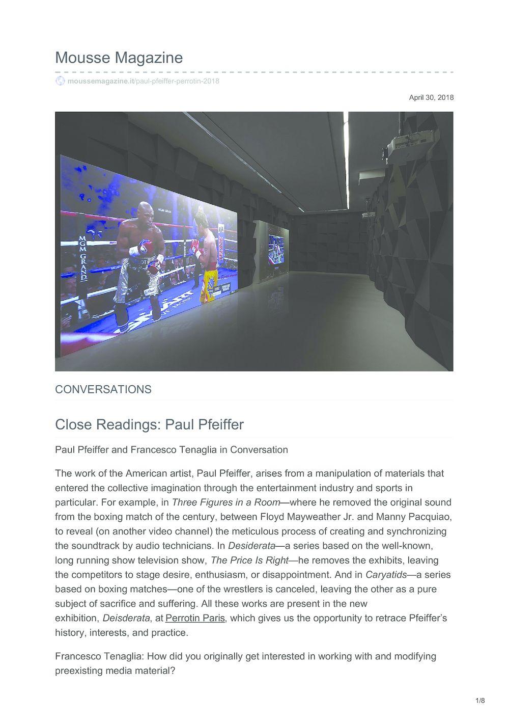 Mousse | Paul PFEIFFER