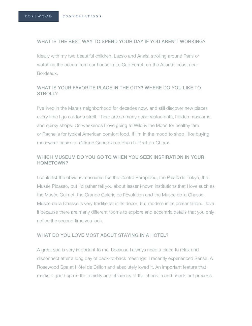 Rosewood Conversations | Emmanuel Perrotin