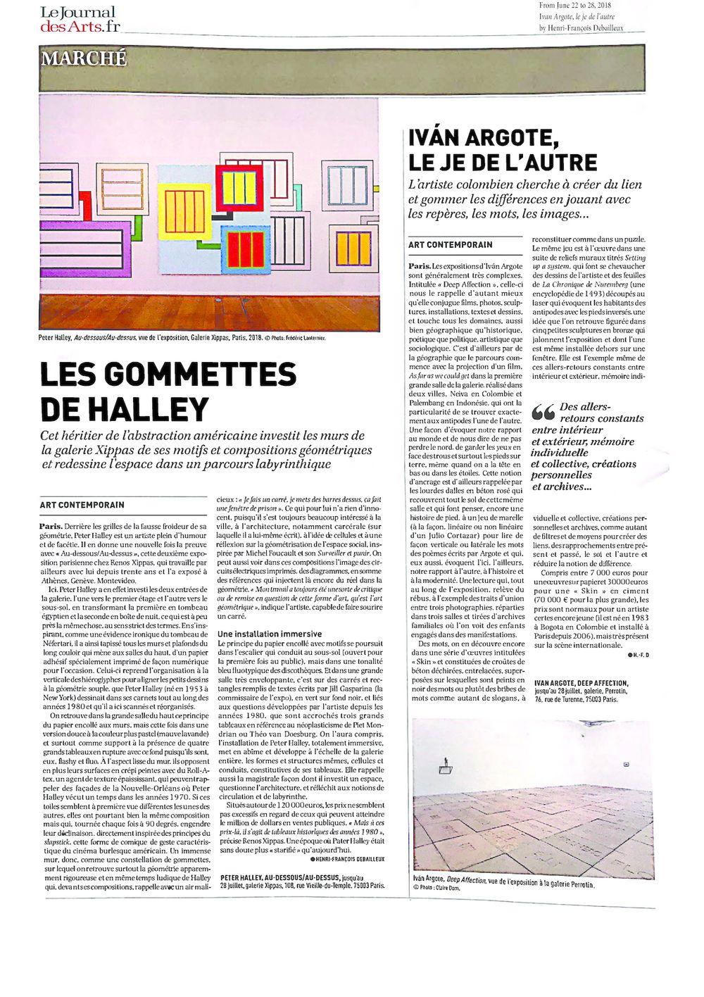 Le Journal des Arts | Iván ARGOTE