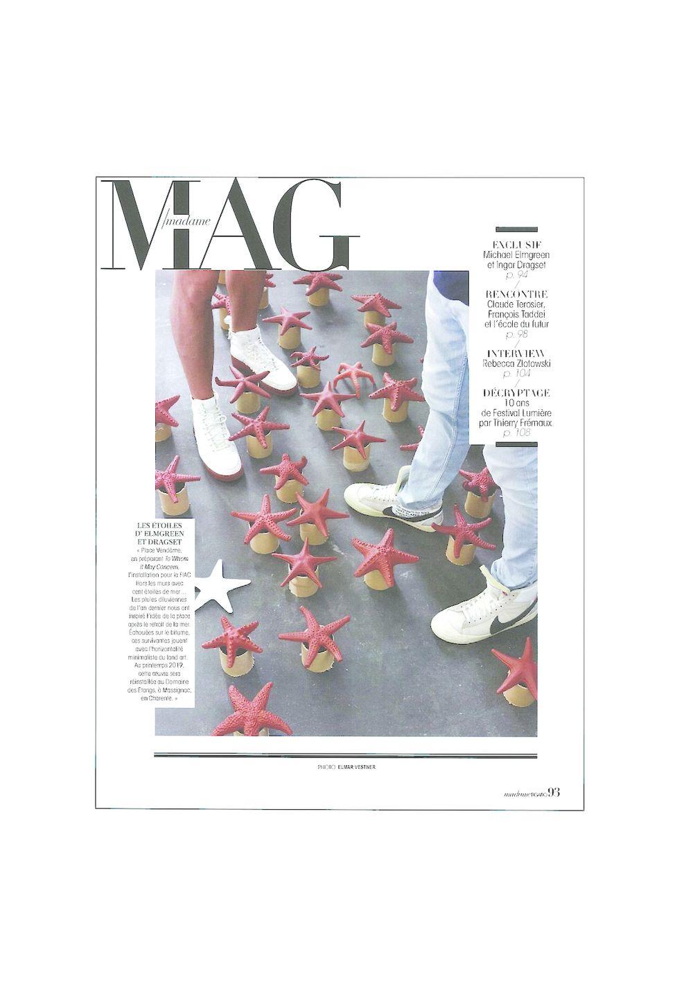 Madame Figaro  | Elmgreen & Dragset