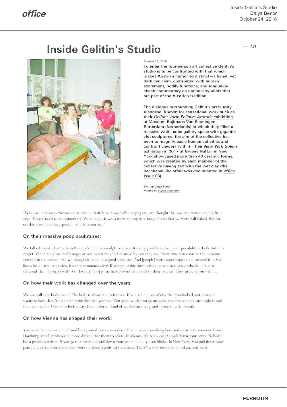 Office magazine | GELITIN