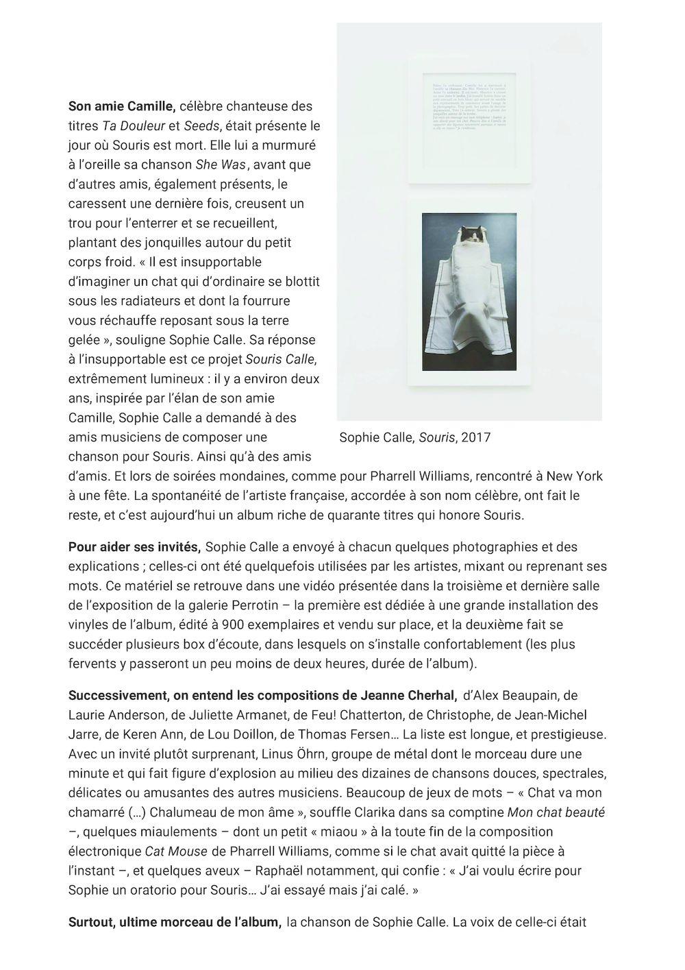 Beaux Arts Magazine | Sophie CALLE