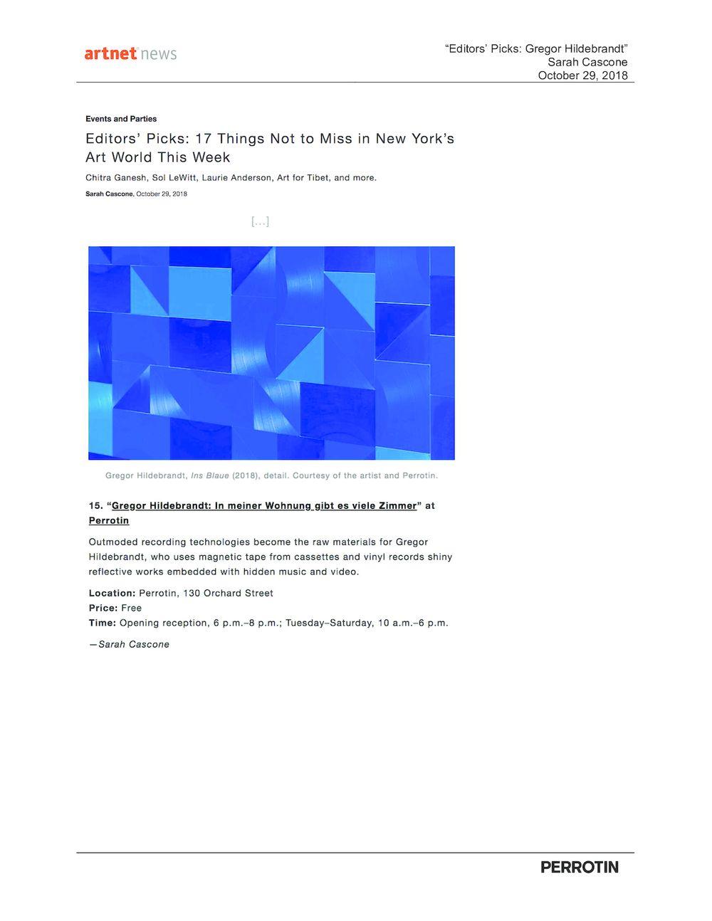 Artnet News | Gregor HILDEBRANDT