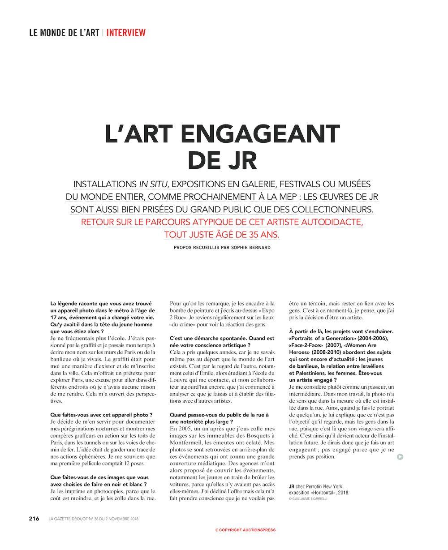 La Gazette Drouot | JR