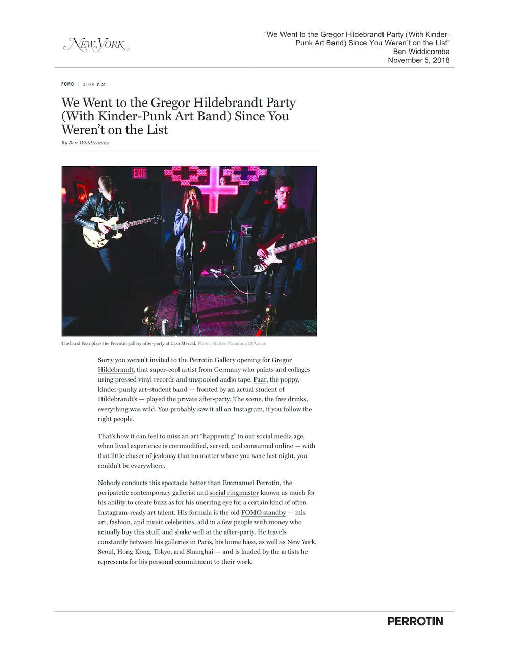 New York Magazine | Gregor HILDEBRANDT
