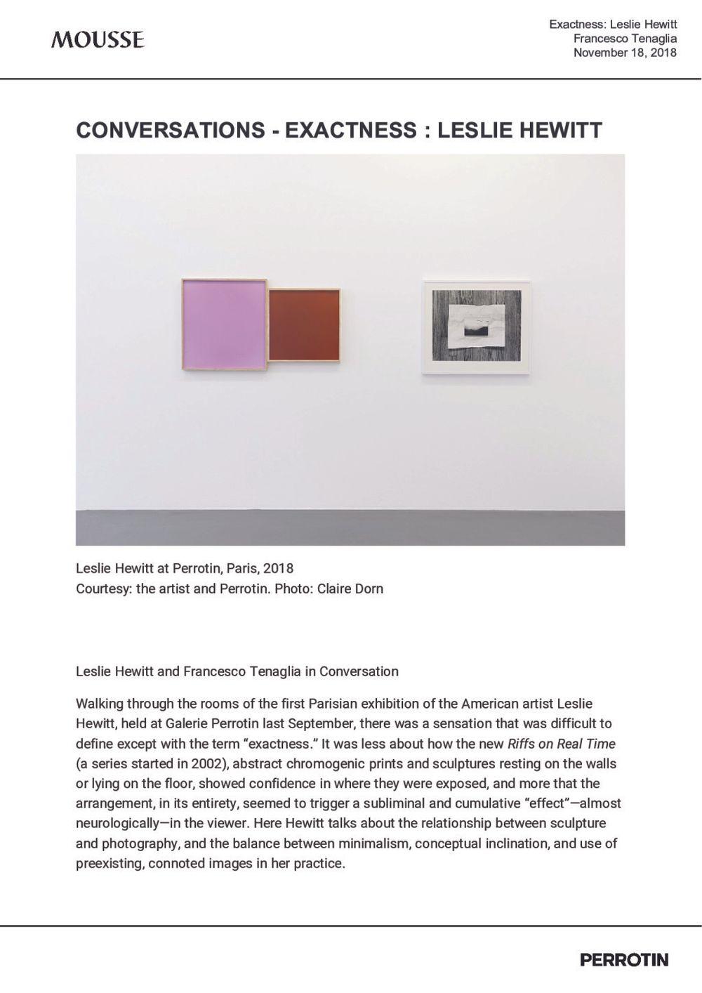 Mousse | Leslie HEWITT