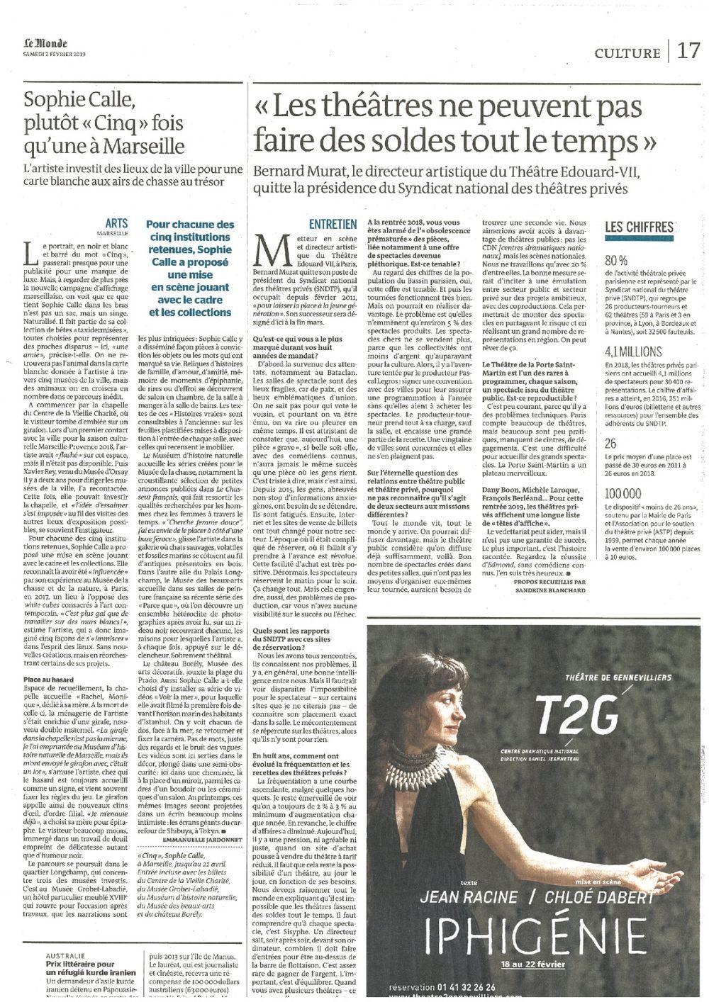 Le Monde | Sophie CALLE