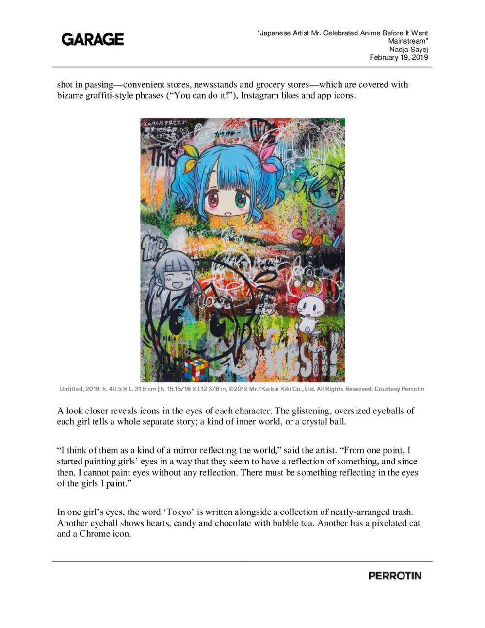 Garage Magazine | Mr.