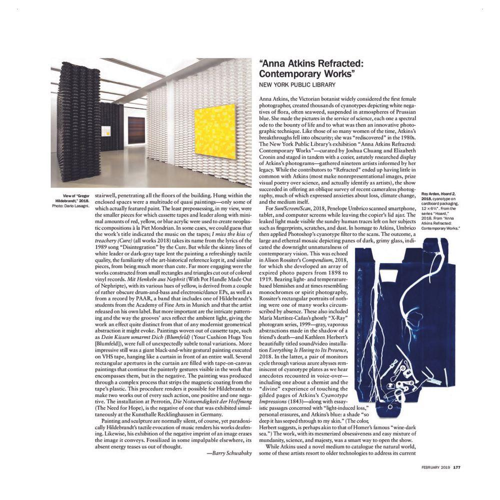 Artforum | Gregor HILDEBRANDT