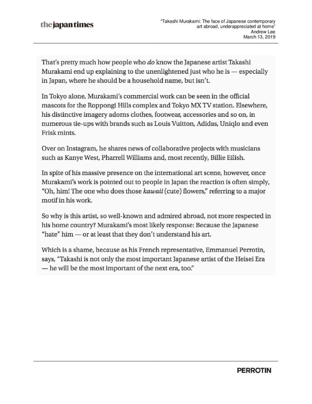 The Japan Times | Emmanuel Perrotin