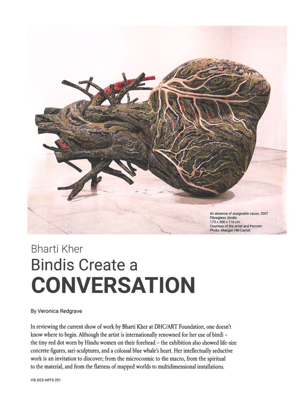 Vie des Arts | Bharti KHER