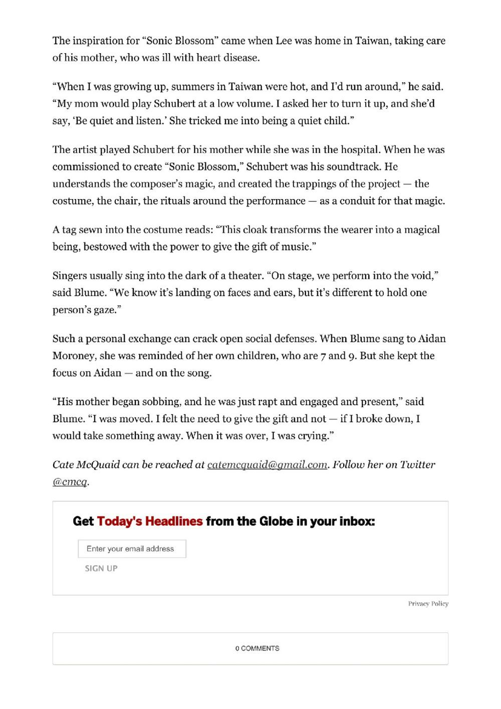 The Boston Globe | 李明維