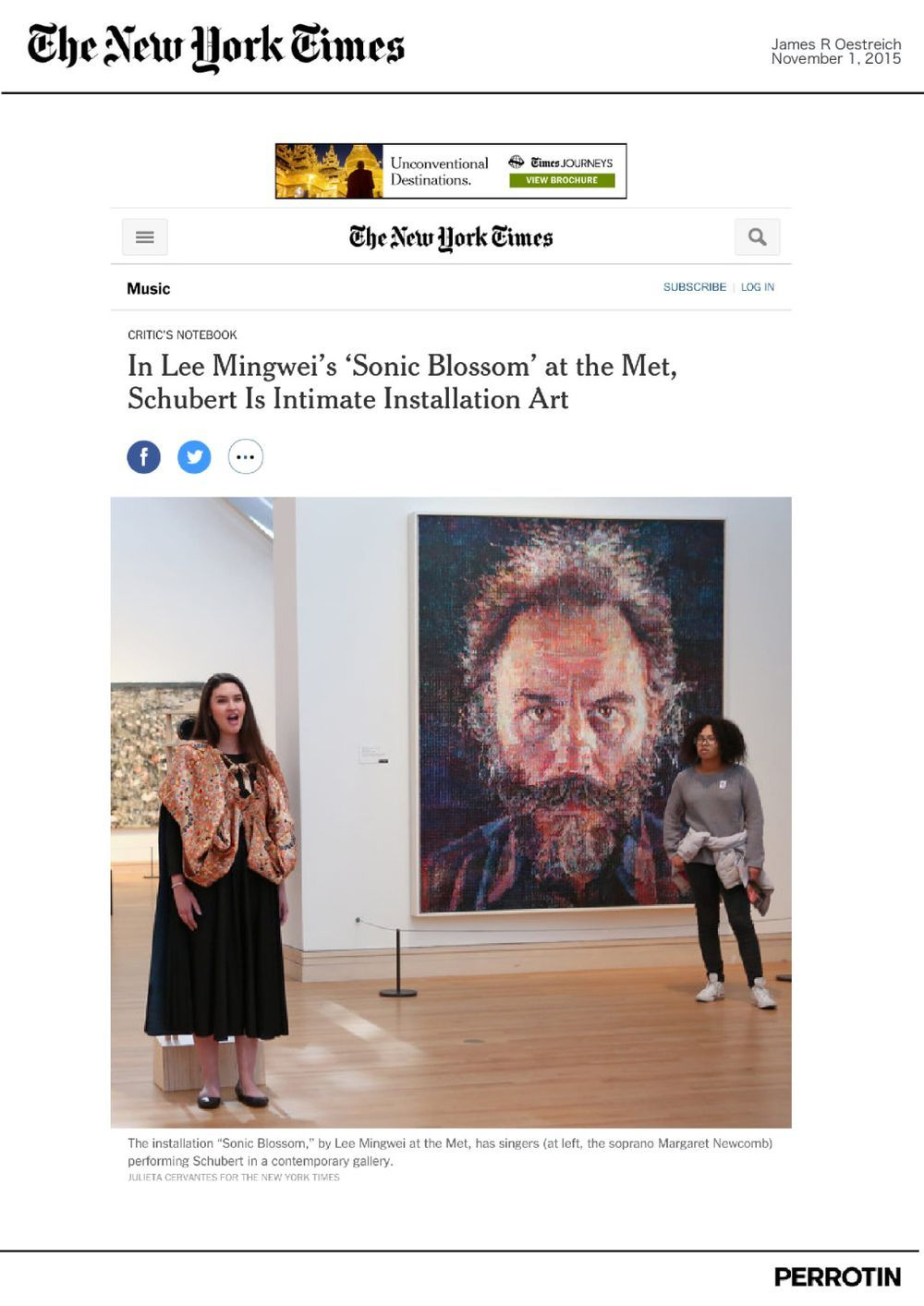 The New York Times | LEE Mingwei