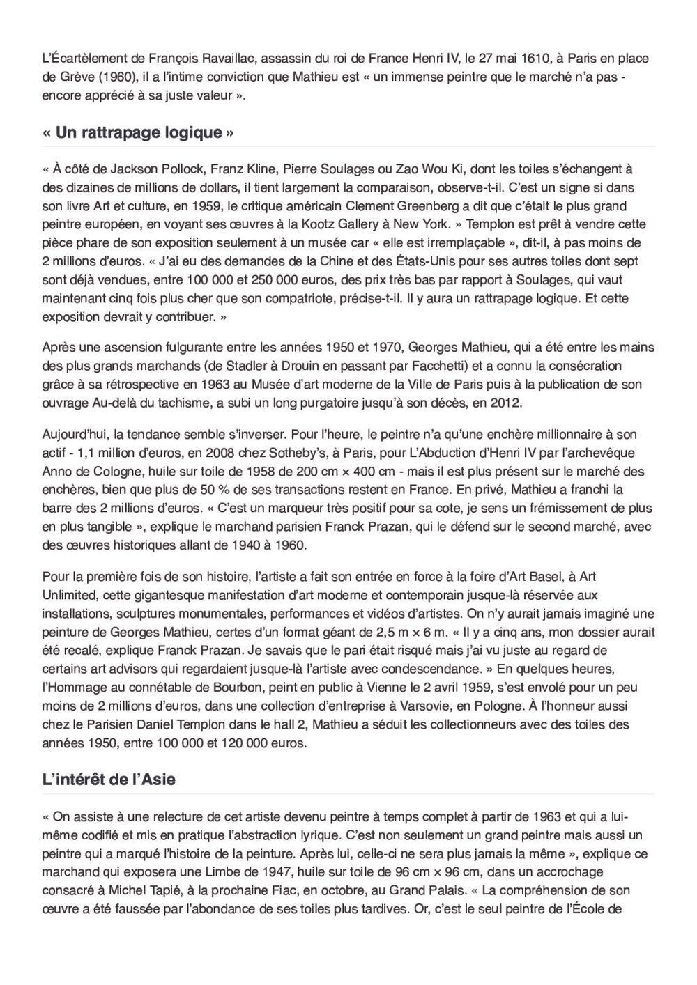 Le Figaro | Georges MATHIEU