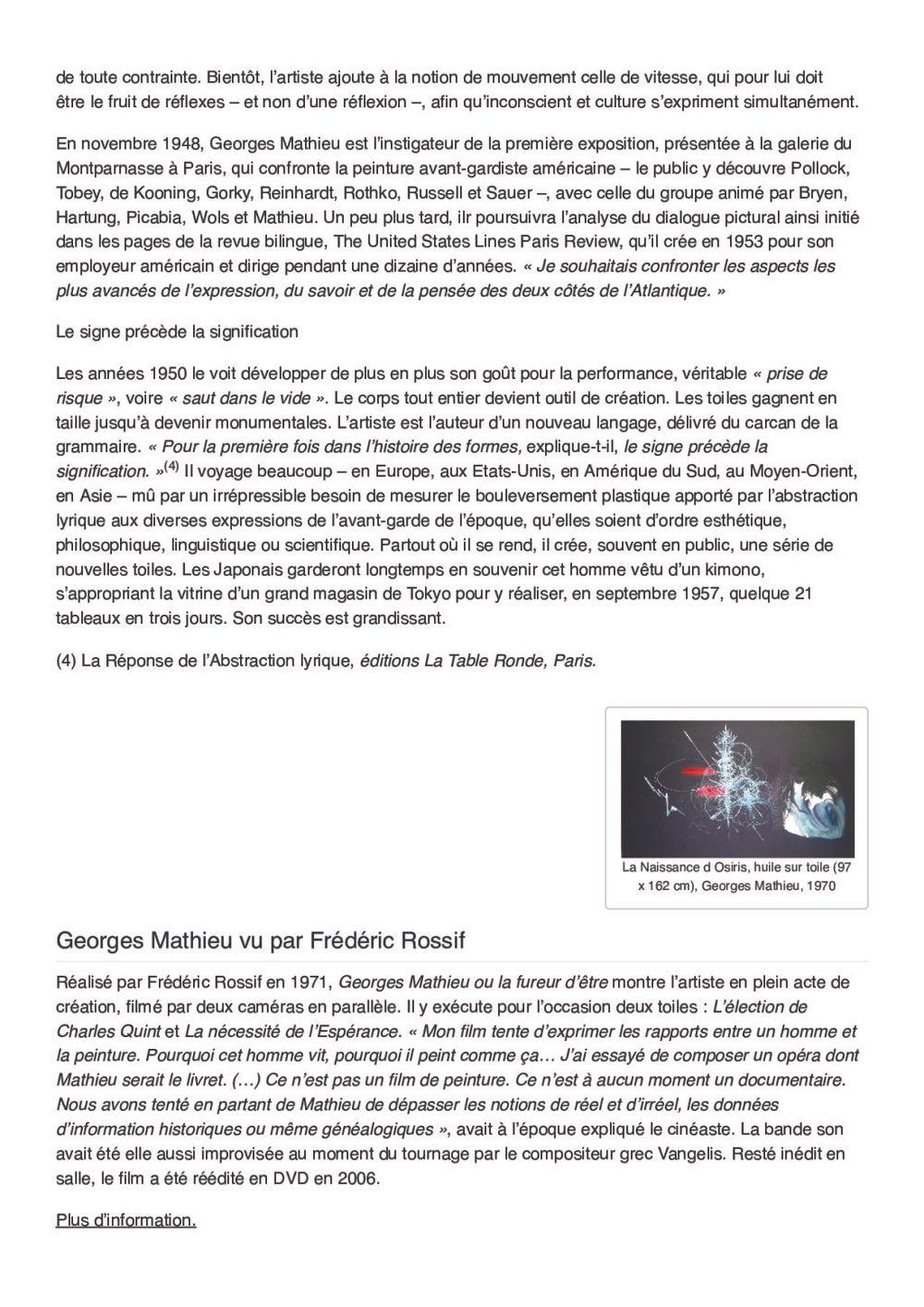 Arts Hebdo Médias | Georges MATHIEU