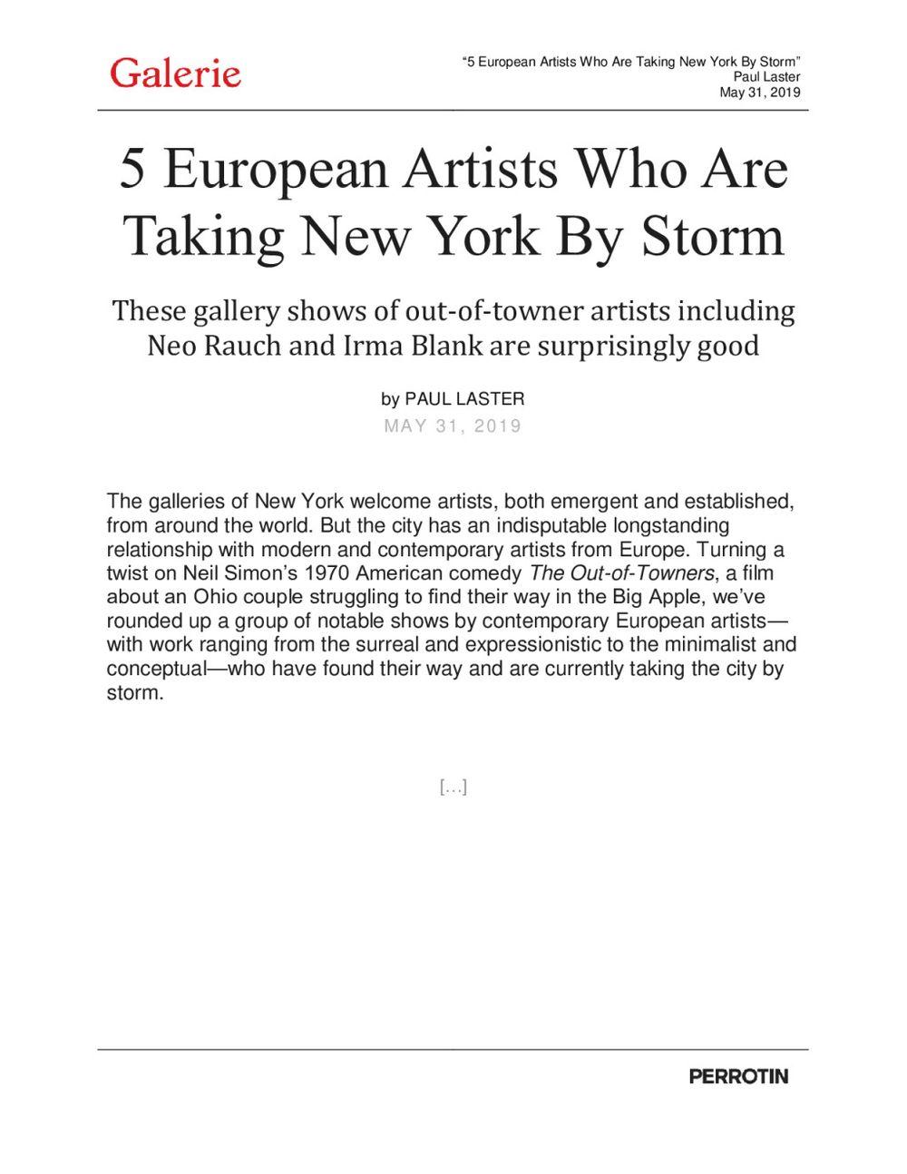 Galerie Magazine   Emmanuel Perrotin