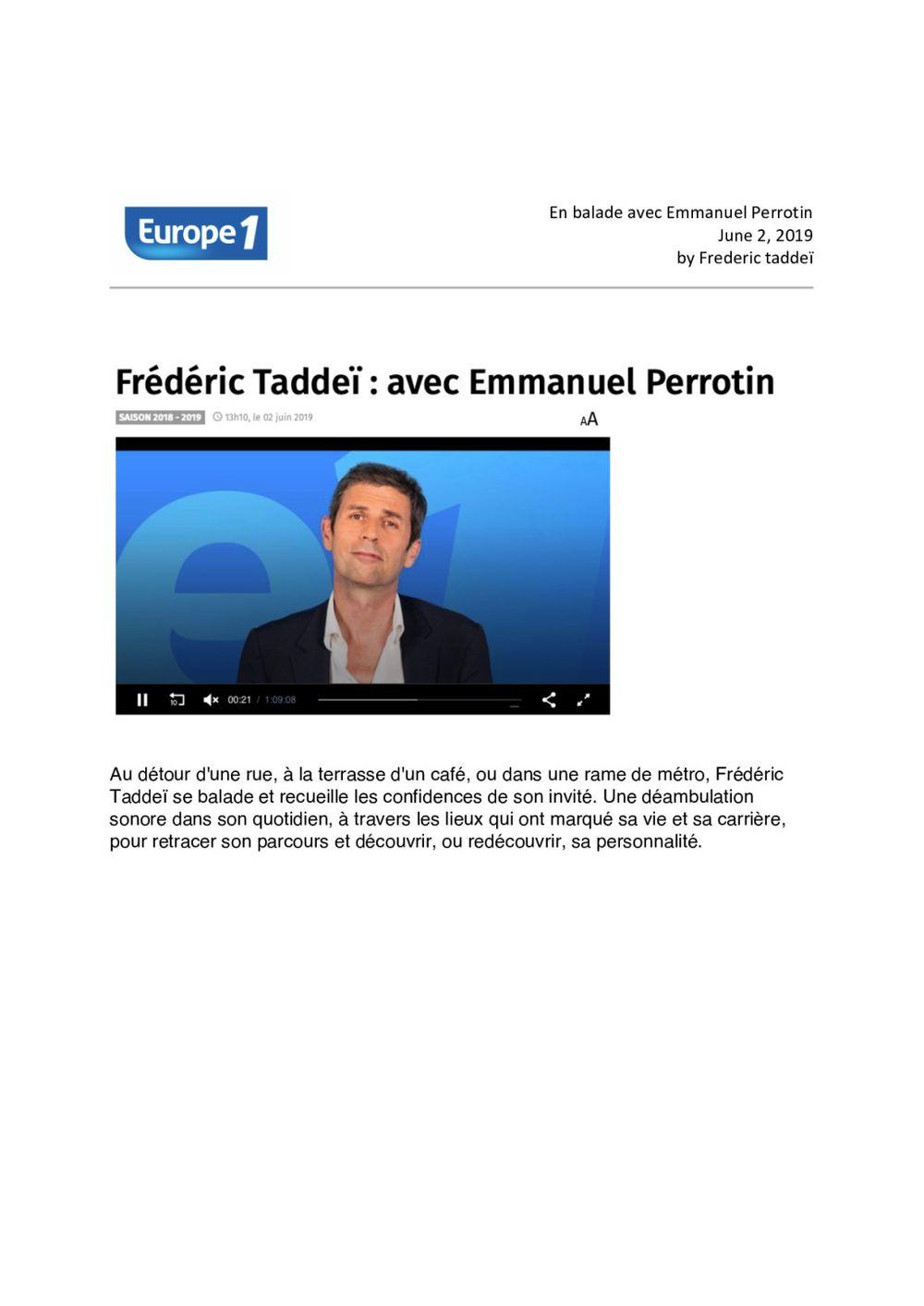 Europe 1 - radio  | Emmanuel Perrotin