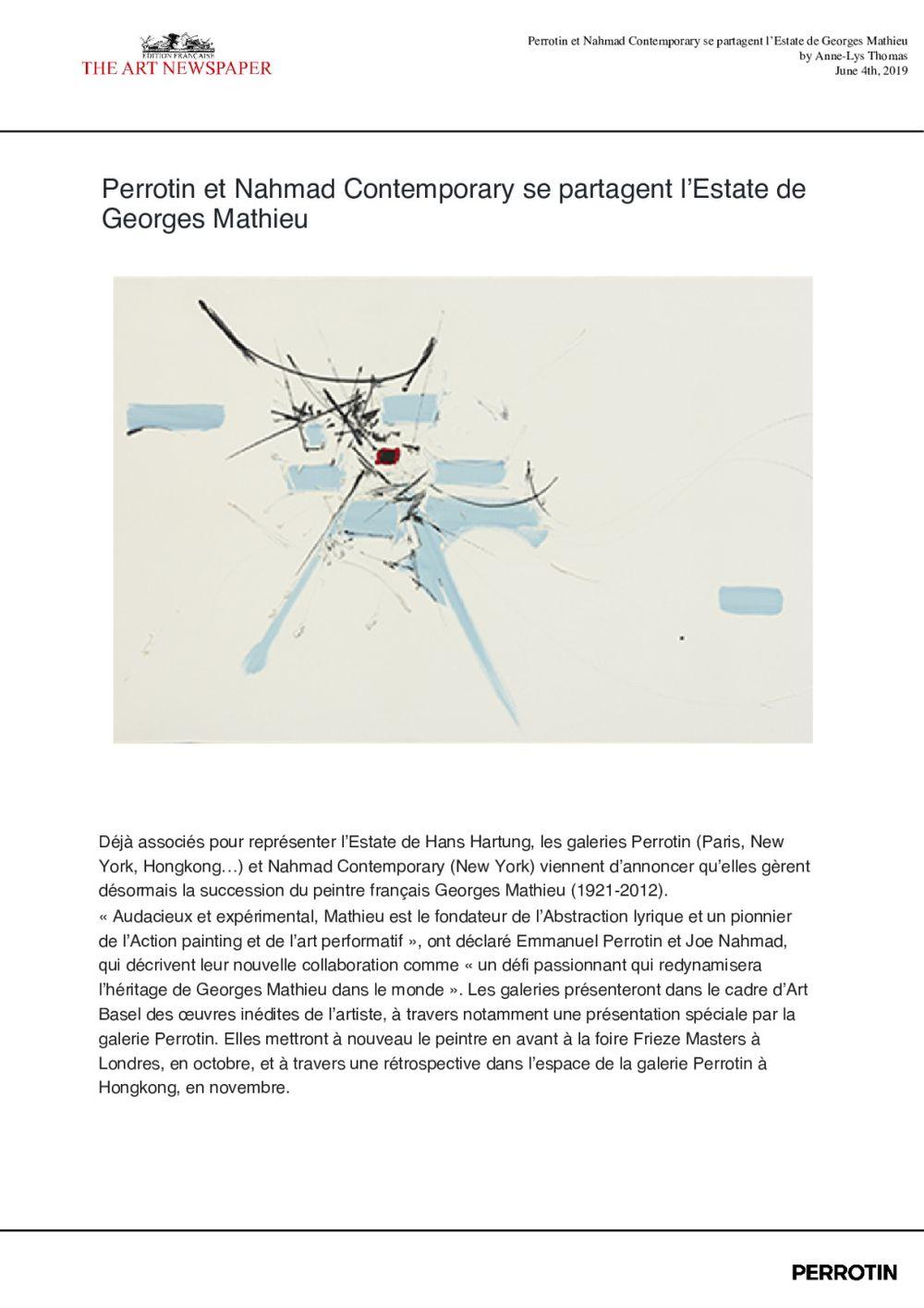 The Art Newspaper | 喬治·馬修