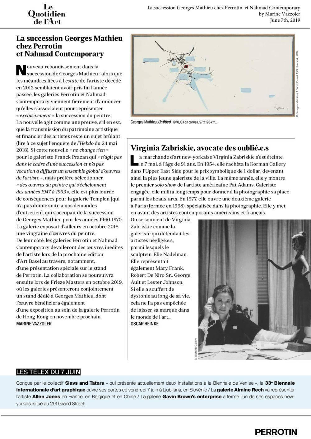Le Quotidien de l'art | 喬治·馬修
