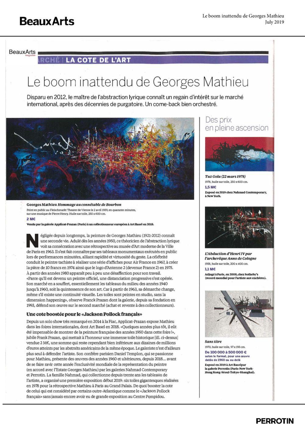 Beaux Arts Magazine | Georges MATHIEU
