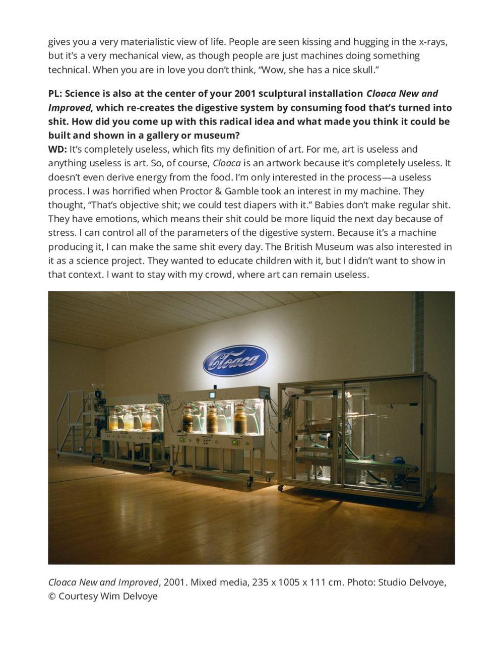 Sculpture Magazine | Wim DELVOYE