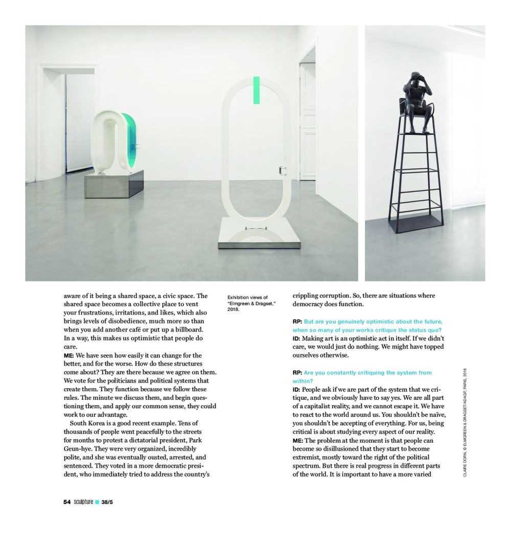 Sculpture Magazine | ELMGREEN & DRAGSET