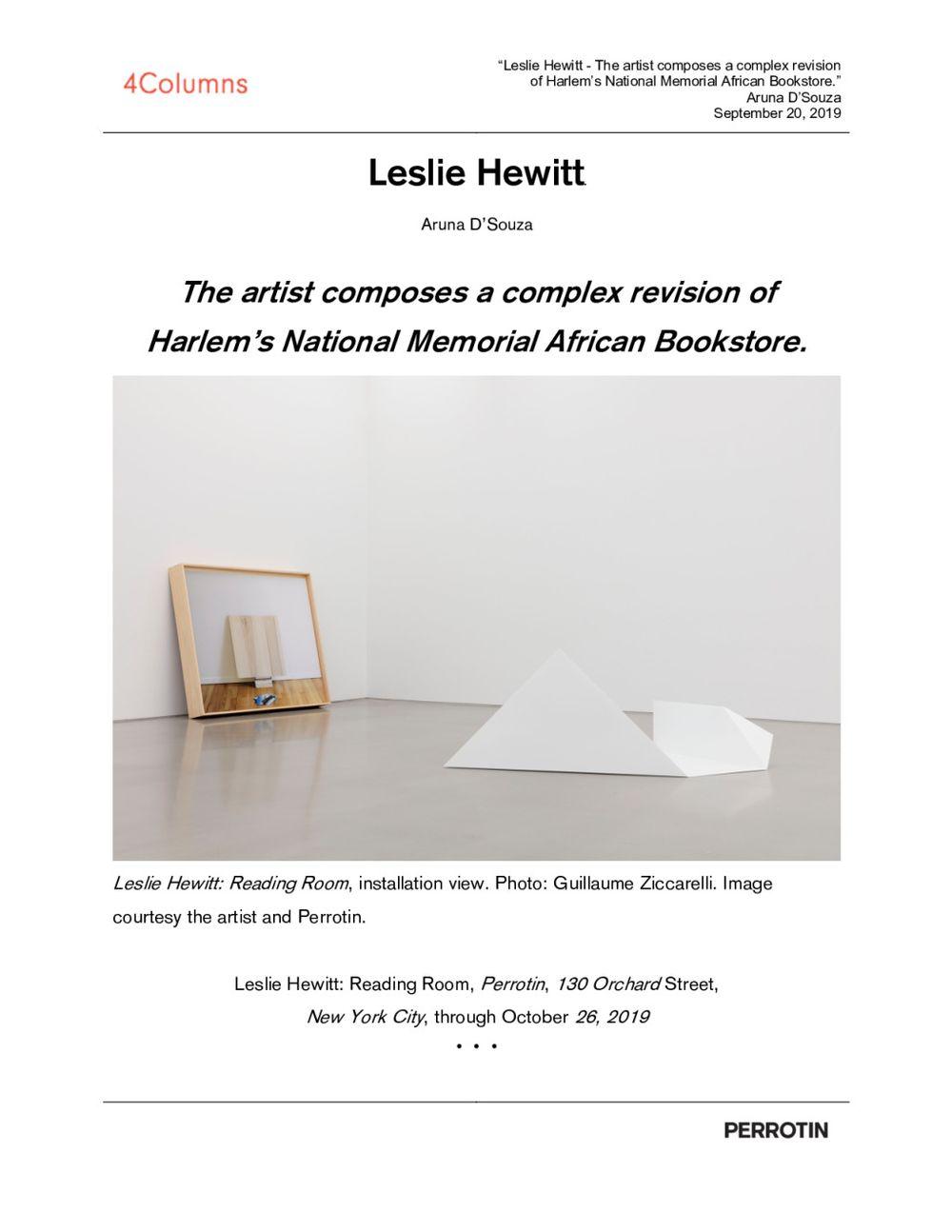4 Columns | Leslie HEWITT