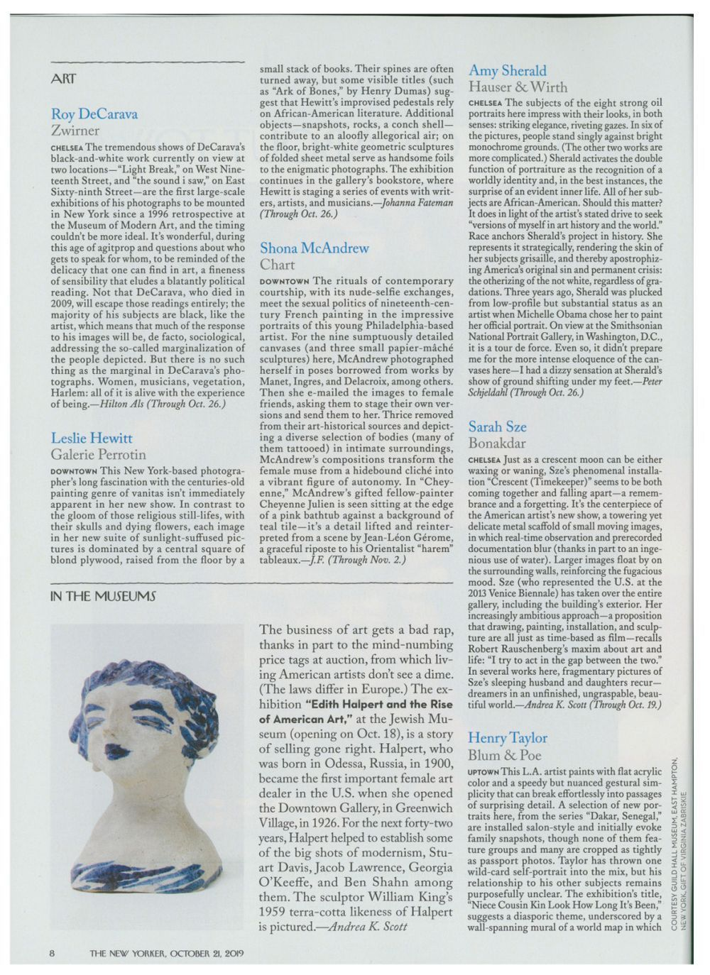 The New Yorker | Leslie HEWITT