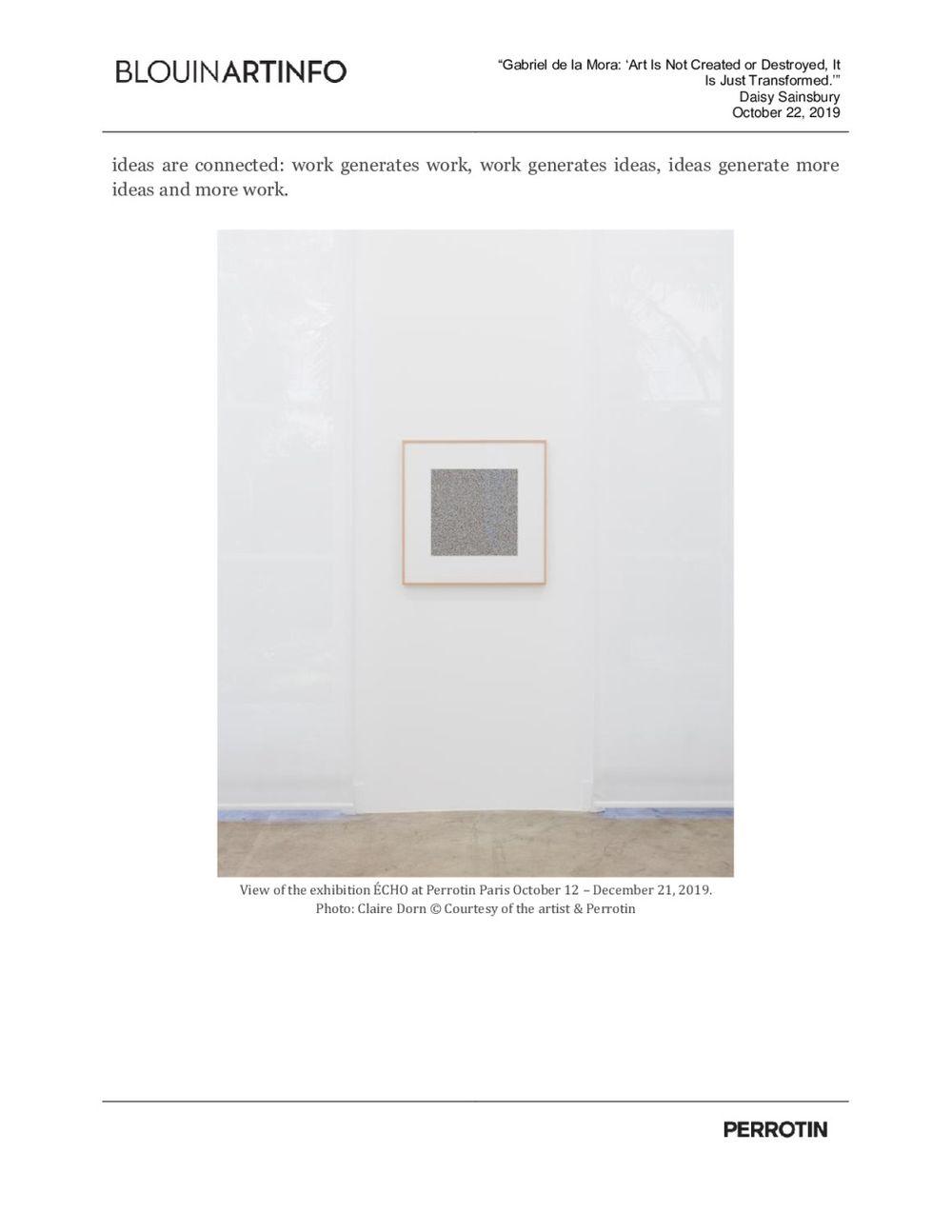 BLOUINARTINFO | Gabriel DE LA MORA