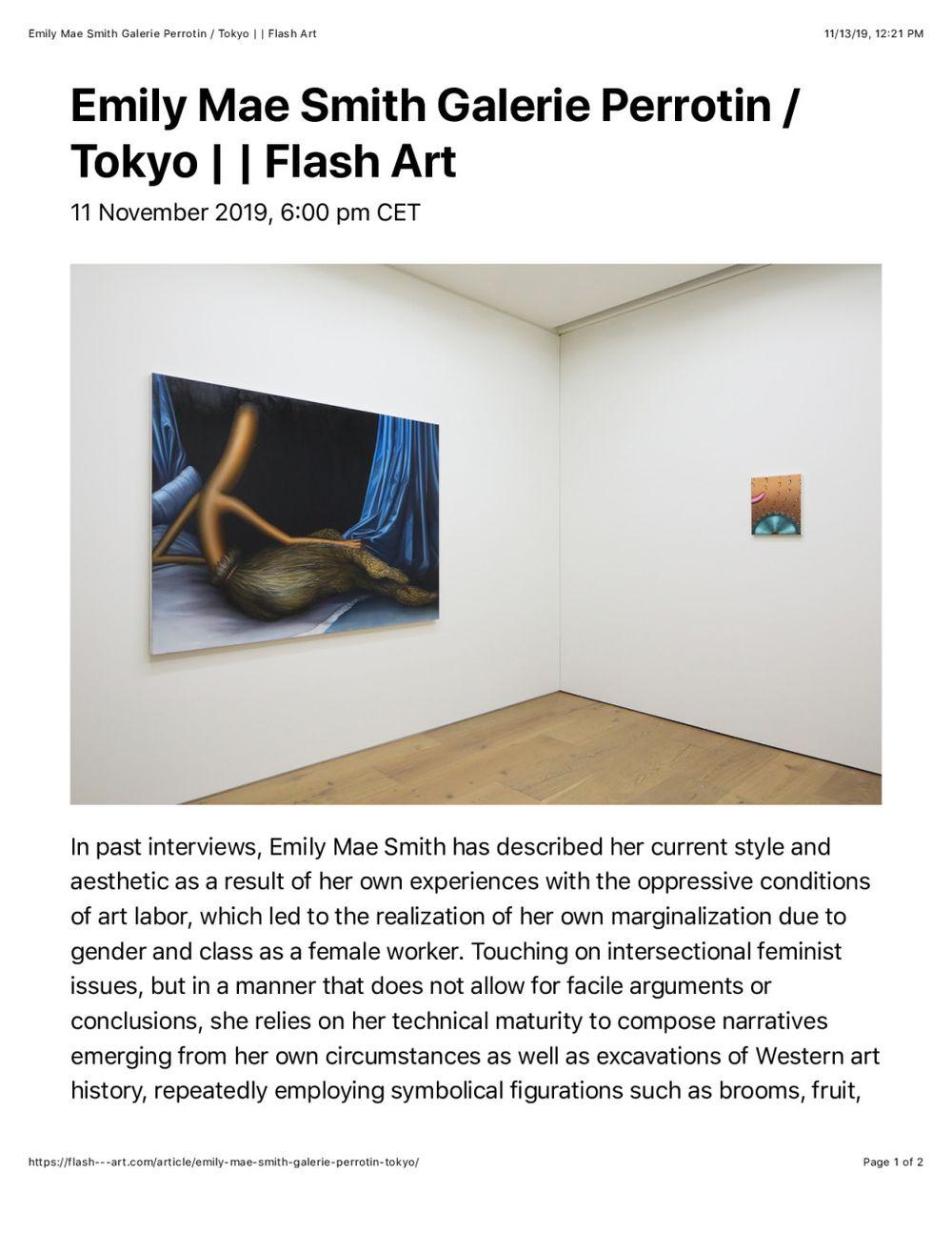 Flash Art | 艾米莉·梅·史密斯