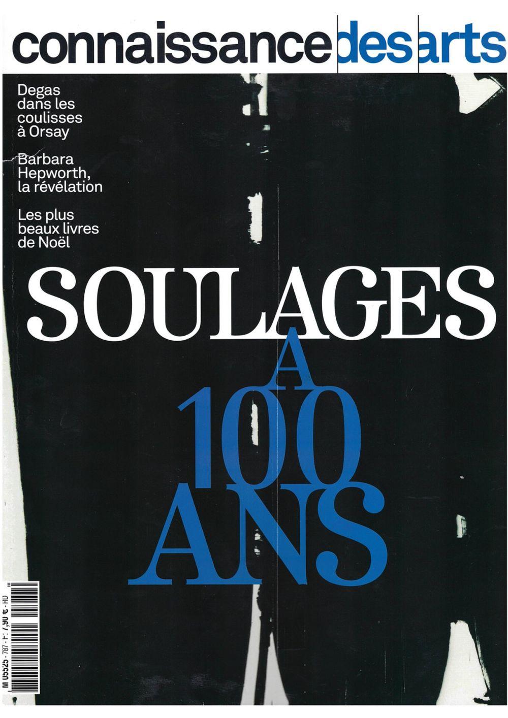 Connaissance des Arts   Pierre SOULAGES