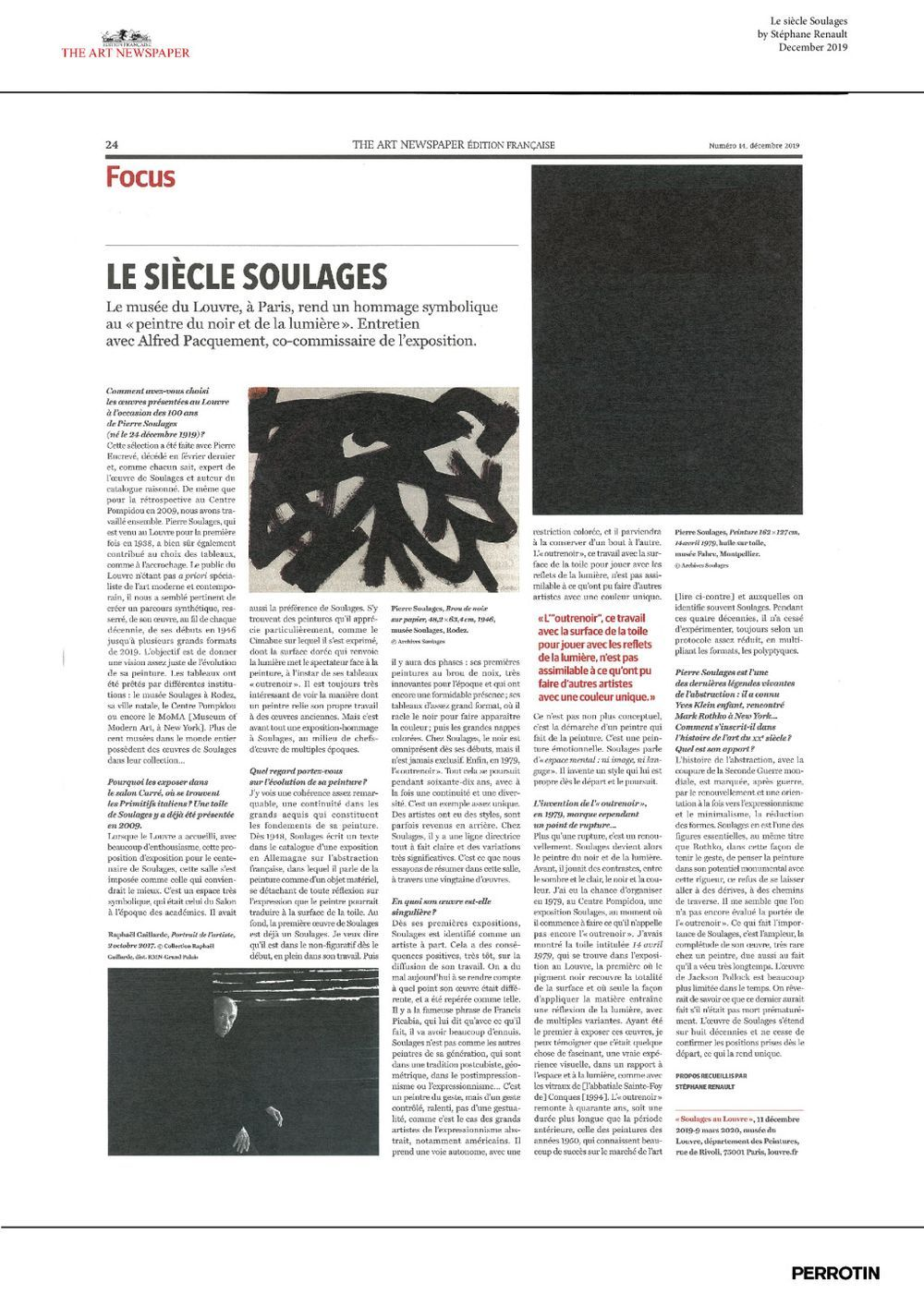 The Art Newspaper | Pierre SOULAGES
