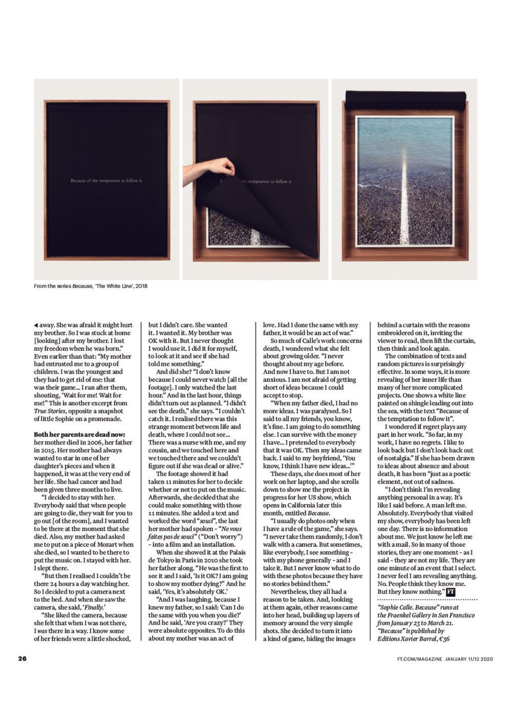 The Financial Times | Sophie CALLE
