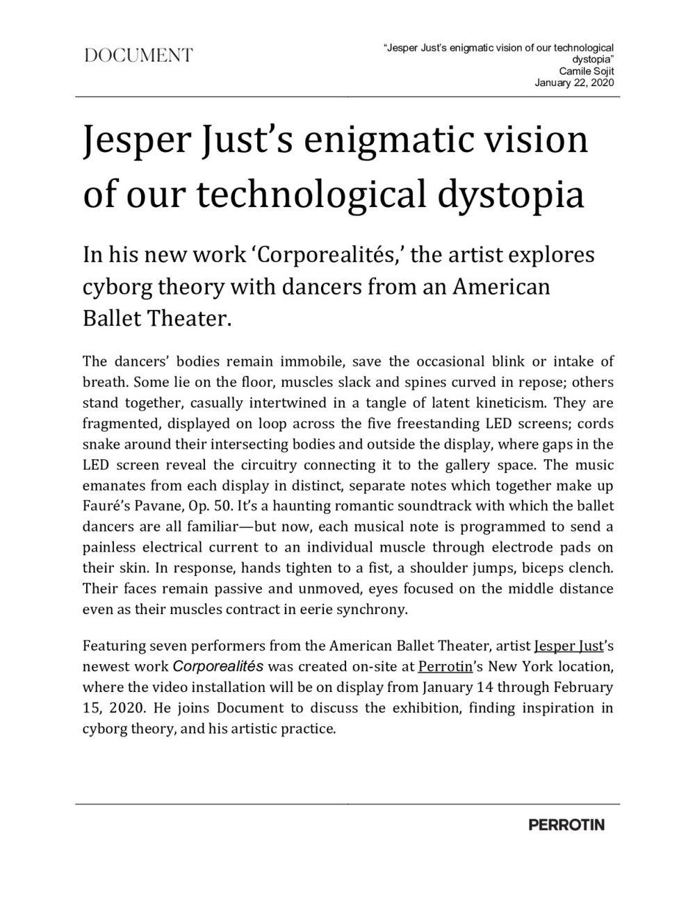 Document Journal | Jesper JUST