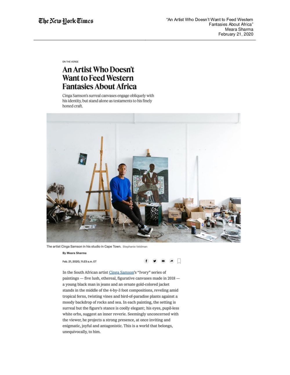 The New York Times Magazine | Cinga SAMSON