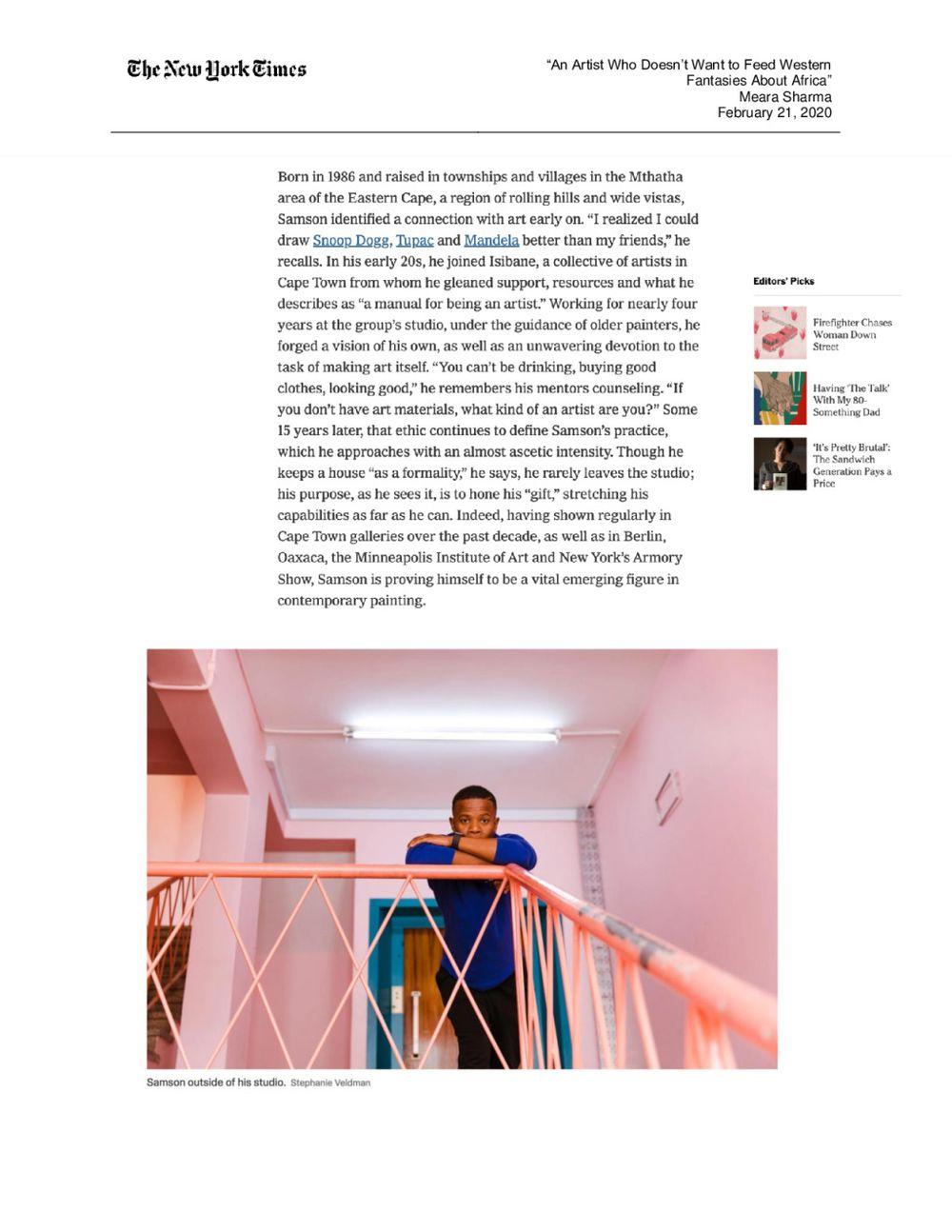 The New York Times Magazine | Cinga SAMSON