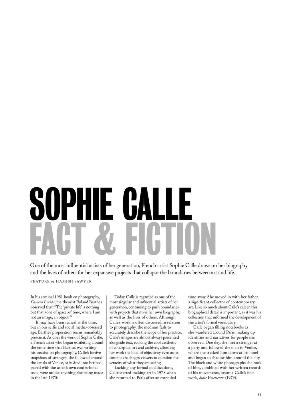 Vault | Sophie CALLE