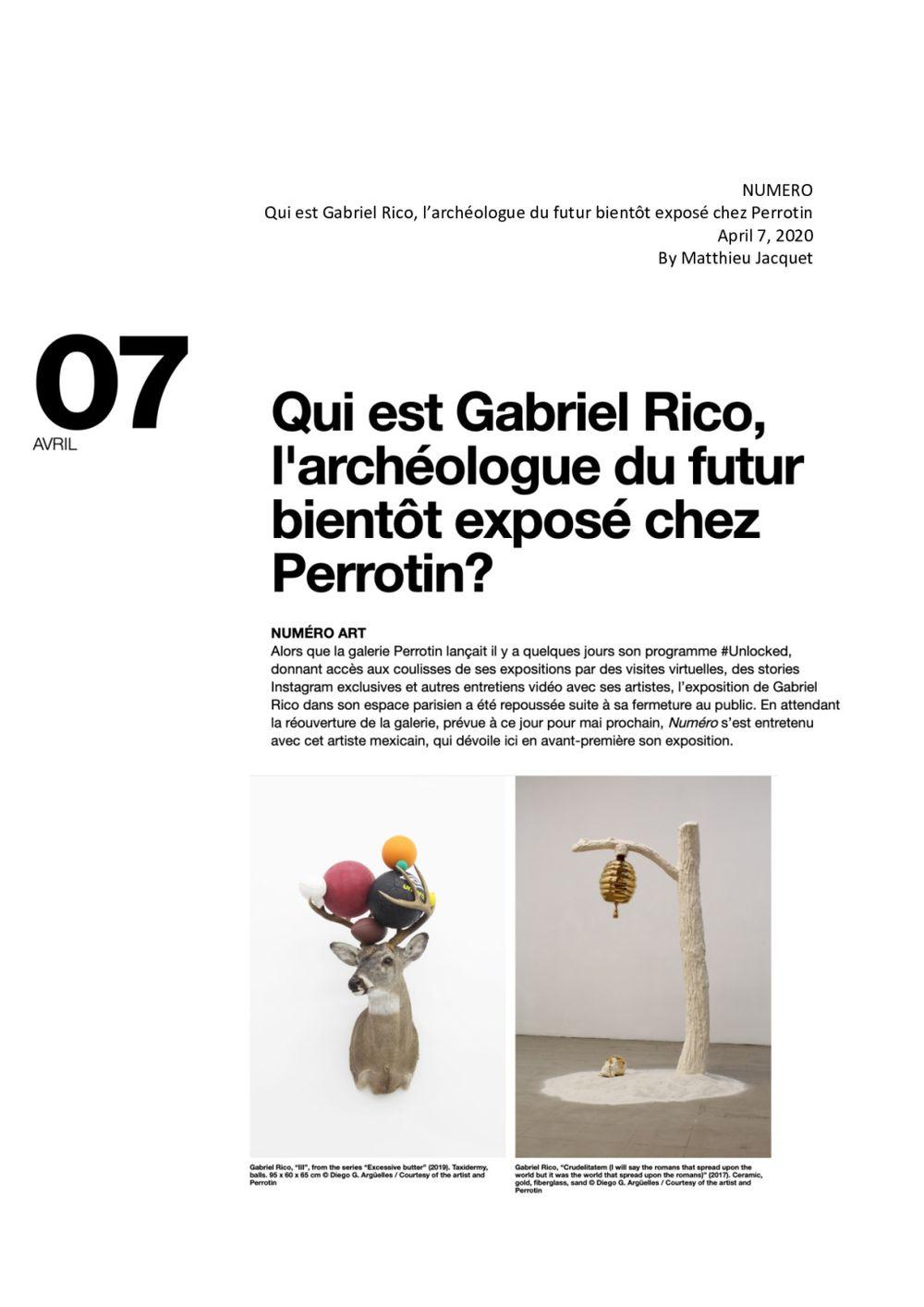 Numéro   Gabriel RICO