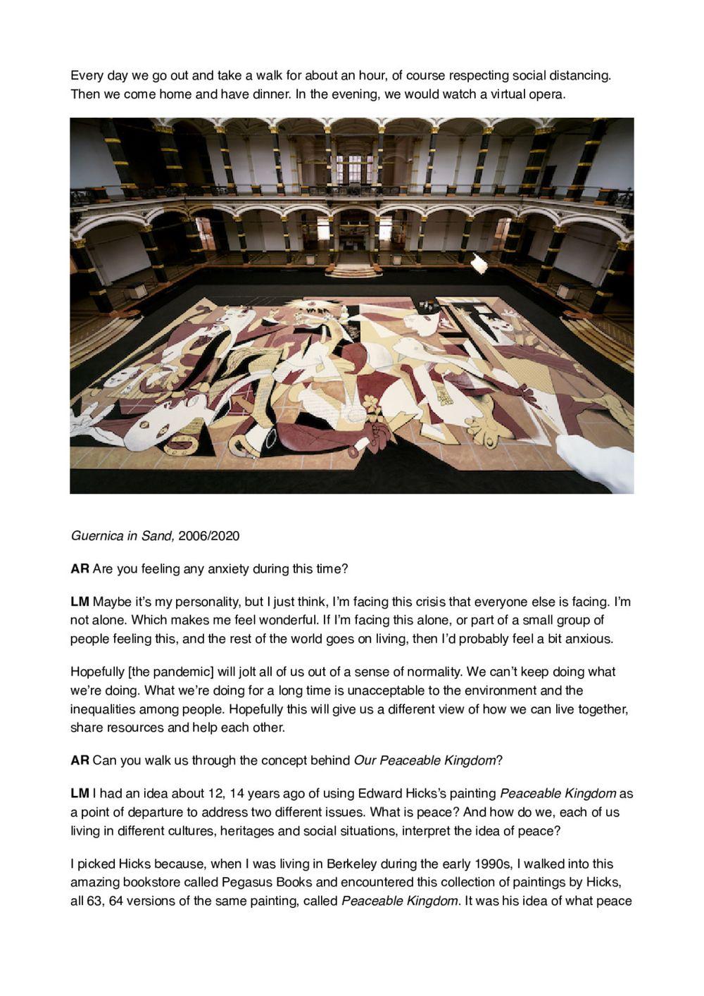 Art Review   LEE Mingwei