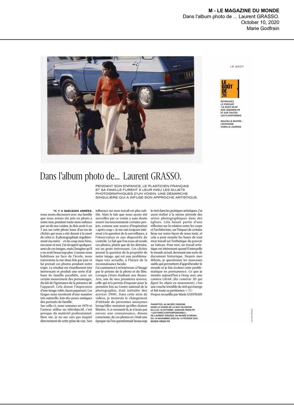 M le Magazine du Monde | Laurent GRASSO