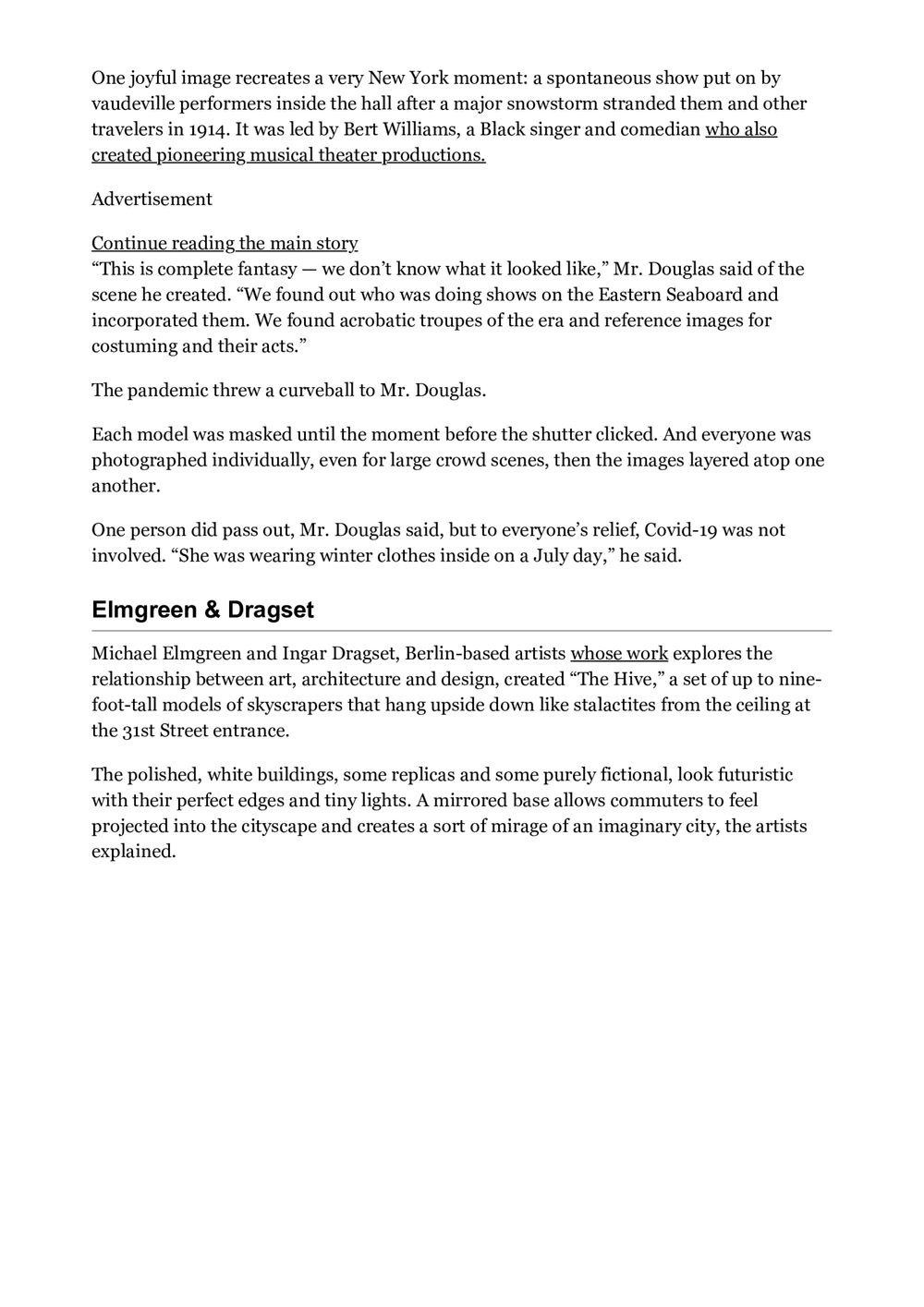 The New York Times | ELMGREEN & DRAGSET