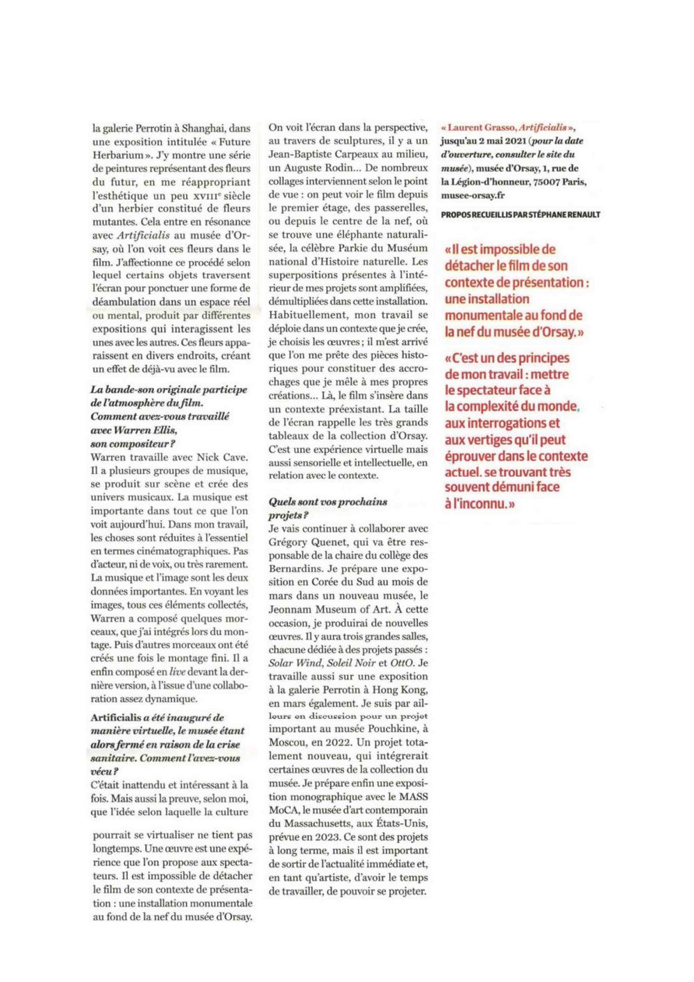 The Art Newspaper | Laurent GRASSO